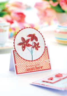 Quilled Mother's Day Cards - Free Craft Project – Papercrafting Book Crafts, Hobbies And Crafts, Paper Crafts, Paper Art, Paper Quilling Designs, Quilling Craft, Fun Christmas Party Games, Quilling Tutorial, Crafts Beautiful