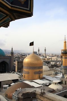 The Golden Dome of Imam Reza shrine, Mashhad, Iran (Islamic Art)