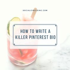 Adding a fun, yet authentic, Pinterest Bio is the first step to carving out an awesome and unforgettable representation of your business. Located at the top of your Pinterest page, a Pinterest bio will help tell your audience who you are and what you'll be pinning.
