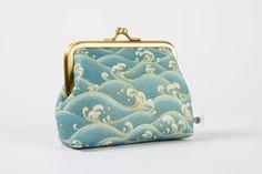 Deep dad - Japanese waves in gold - metal frame purse. $23.00, via Etsy.