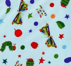 Very Hungry Caterpillar fabric - out of print