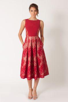 943bda7117 Black Halo Eliason Cocktail Dress in Lavish Red Red