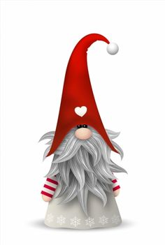Poster of Scandinavian christmas traditional gnome, Tomte, illustration #poster, #printmeposter, #mousepad, #tshirt