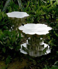 Hundred petal lotus tables, brass Vita Designs, Mumbai