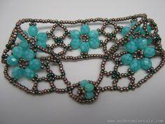 Beaded Flower Bracelet  - 2