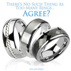 No Such Thing As Too Many Rings. Agree? #BuyBlueSteel