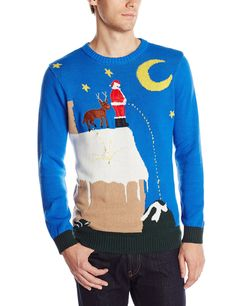Blizzard Bay Men's Santa's Relief Light Up Ugly Christmas Sweater, Blue/White/Brown/Red, XX-Large Christmas Sweater With Lights, Best Ugly Christmas Sweater, Christmas Shirts, Christmas Time, Christmas Clothes, Christmas Jumpers, Christmas Fashion, Christmas Ideas, Christmas Crafts