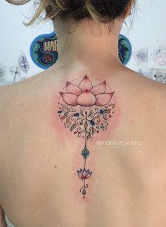 Tattoo por Mari Kuroyama, São Paulo, Brasil.