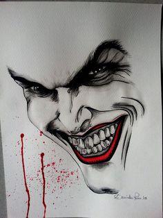 Joker Drawings, Batman Drawing, Tattoo Drawings, My Drawings, Joker Face Tattoo, Batman Tattoo, Joker Iphone Wallpaper, Joker Wallpapers, Wall Stickers Wallpaper