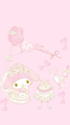 Here comes the bride My Melody Wallpaper, Sanrio Wallpaper, Hello Kitty Wallpaper, Kawaii Wallpaper, Cat Costume Kids, Hello Kitty Tattoos, Black Cat Tattoos, Hello Kitty Pictures, Cute Stationary