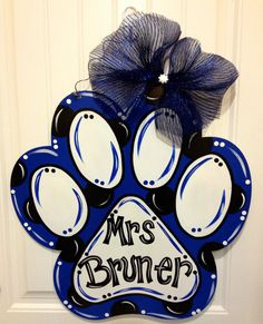 Paw Print by DoorCreationsbyJess on Etsy, $48.00