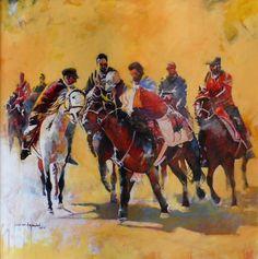 Artist: Shan Amrohvi Artwork Code: AC-SA-036 Medium: Oil on canvas Size: 30 x 30 inch