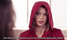 I'm gonna admit.I was pretty disappointed when we didn't see the actually Red Coat. Pretty Little Liars Hanna, Pretty Little Lairs, American Teen, Popular Series, Ashley Benson, Best Shows Ever, Gossip Girl, Actors & Actresses, Fangirl
