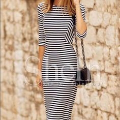 Striped dress New and never worn, perfect condition Dresses Midi