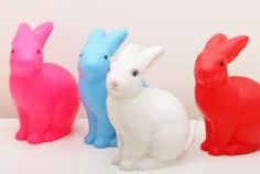 Heico bunny rabbit lamp and night light for kids red blue neon pink white Egmont toys
