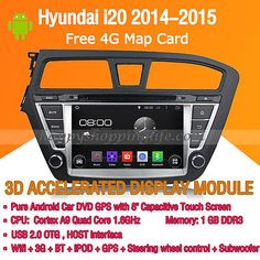 ﹩434.49. Quad Core Android 5.1 Car DVD Radio GPS Navi Wifi 3G for Hyundai i20 2014-2015 (  Features - Auxiliary Input, Screen Size - 8, Unit Size - 2 DIN, Car OS - Pure Android 5.1.1, Resolution - 1024 x 600, UPC - 603803660862     )