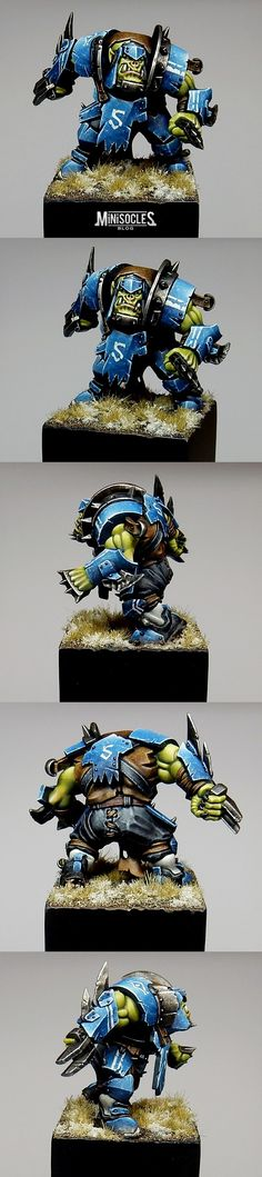 Blood Bowl orc blitzer