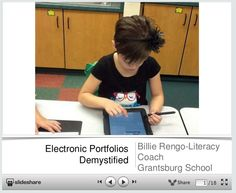 Electronic Portfolios Demystified - If elementary school students can develop their electronic portfolios then college students should be able to develop a great portfolio.