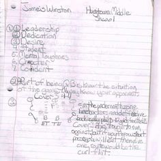 Jameis Winston's goals when he was 12 yrs old. Impressive!