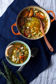 Rosemary and White Bean Cassoulet | Vegan, French-style stew. Gluten free, grain free, dairy free.