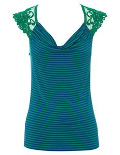 """$39.95 from Myer: """"Tokito Lace Back Drape Cut and Sew Top"""""""