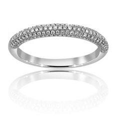 9b750174f5c Reis-Nichols Jewelers   Diamond Wedding Band   stunning! 14K white gold  with pave