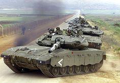 Israeli Merkava main battle tank.