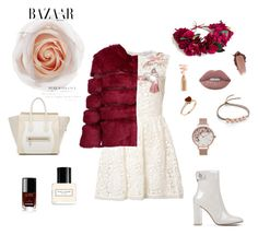 #winter #winterstyle #winterfashion #winterwedding #partydress #party #nightout #fashion #flowers #flowercrown #floral #biege #burgundy #marcjacobs #celine #bazaar #chanel #valentino #fauxfur #fauxfurcoats #bloomroom #bloomroomnyc #style
