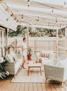 Provide Your House a Transformation with New House Design – Outdoor Patio Decor Outdoor Spaces, Outdoor Living, Interior And Exterior, Interior Design, Home Decor Inspiration, Decor Ideas, Garden Inspiration, Decorating Ideas, My Dream Home