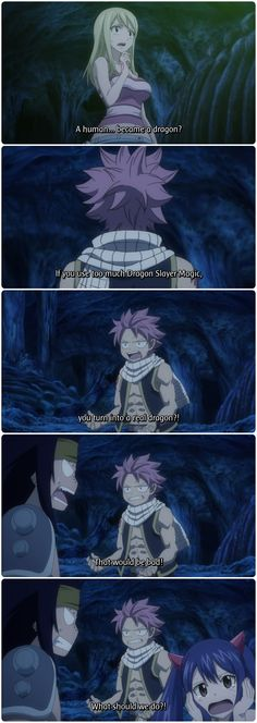 Fairy Tail Ep 176: if you use dragon slayer magic you become a dragon funny