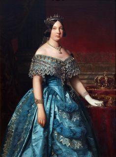 Queen Isabella II of Spain : Federico de Madrazo : 1849