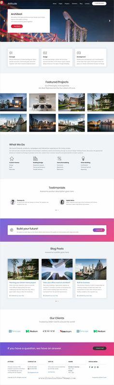 Attitude - HTML Template Based On Foundation Zurb Pinterest