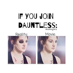 If you join dauntless. Hahaha Divergent Funny
