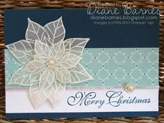 Stampin Up Joyful Christmas poinsettia card by Di Barnes colourmehappy  #stampinup, #colourmehappy, #dibarnes