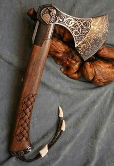 We are the world's best online Viking jewelry and Apparel seller. Our goal is to provide YOU with the best viking merch products possible. We will satisfy all your Viking Merch needs. Escudo Viking, Beil, Viking Axe, Medieval Weapons, Fantasy Weapons, Custom Knives, Knives And Swords, Katana, Blacksmithing