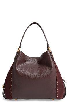 494a48796d4 COACH Edie 42 Border Rivets Leather Shoulder Bag Leather Shoulder Bag