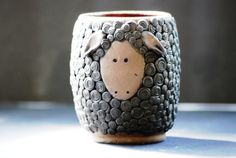 Baa Baa Black Sheep Ceramic Coffee Mug Tea door sundancepotteryshop, $40.00