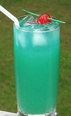 hawaii five-o | 2 oz. Light Rum  2 oz. Blue Curacao  3 oz. Pineapple Juice  1 oz. Sweet & Sour Mix  Cherry for garnish        Directions     Combine all of the ingredients into an ice filled cocktail shaker.  Cover, shake well, and pour into a Collins glass.