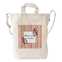 #Trendy stripes with area for your own text duck bag - #trendy #gifts #template
