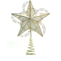 Holiday Time Capiz Gold Circle Tree Topper ** Click image to get this special deal : Christmas Tree Toppers Christmas Tree Toppers, Holiday Time, Victorian Era, Seasonal Decor, Ceiling Lights, Gold, Design, Home Decor, Touch