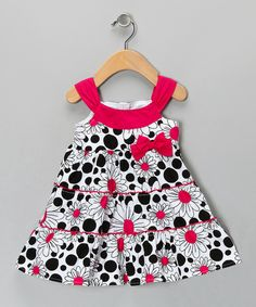 Take a look at this Pink & Black Dress - Infant, Toddler & Girls on zulily today!