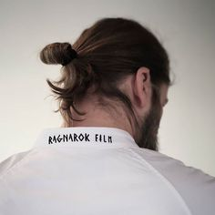 showing of one of his sword fighting moves in a custom Unbranded shirt🤺 When he's not out battling other vikings he is balancing the days between managing a movie production company and pursuing his passion for coffee☕ Can you tell? Fighting Moves, Man Bun, Oslo, Sword, Vikings, Production Company, Embroidery, Photo And Video, Shirts