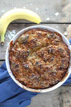 Coconut Banana Bread Pudding - FoodBabbles.com