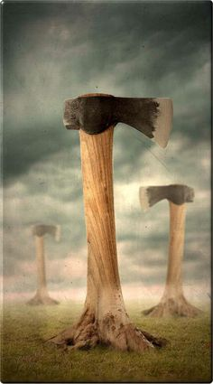 Uuuufff!!  Being a gardener and an ecologist, this one hurts.    Am a great admirer of Pawel Kuczynski (pawelkuczynski.co...) and his needle sharp, thought-provoking, right-on the button images.