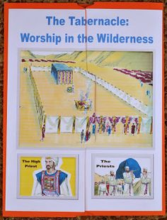 Tabernacle Worship in Wilderness file folder printable