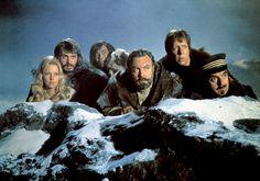 Agneta Eckemyr, David Hartman, Mako, Donald Sinden, David Hartman and Jacques Marin in the 1974 Disney film The Island at the Top of the World.