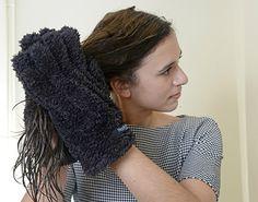 Feirinha Chic : Luva para secar o cabelo mais rápido e sem frizz