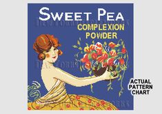 Parfums Advertisement Cross Stitch Art Deco by NewYorkNeedleworks, $8.50