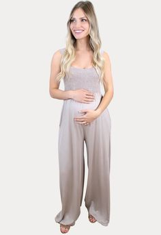 Smock Top Tan Maternity Jumper- Sexy Mama Maternity Maternity Outfits, Pregnancy Months, Perfect Wardrobe, Best Mom, Smocking, Female, Stylish, Sexy