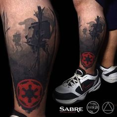 Attack on Endor, healed ➕ #starwars #inkbysaga #realismclub #sabretattoo @sabretattoosupplies #calgarytattoo #yyc #endor #darkside #starwarstattoo #colorrealism #colortattoos #silverbackink #electrasyn #saniderm